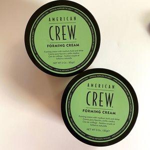 American CREW Men's 3 oz FOAMING Cream x 2. NEW!!!